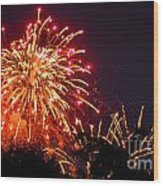 Fireworks 2014  4 Wood Print