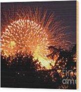 Fireworks 2014  5 Wood Print