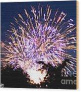 Fireworks 2014  6 Wood Print