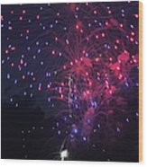 Fireworks 2014 Vi Wood Print