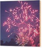 Fireworks 2014 X Wood Print