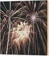 Fireworks 3 Wood Print by Andrew Nourse