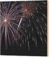 Fireworks 4 Wood Print by Andrew Nourse