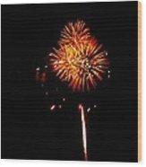 Fireworks 4th Of July Avon Pier Hatteras Island 3 Wood Print