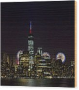 Fireworks 4th Of July Wood Print