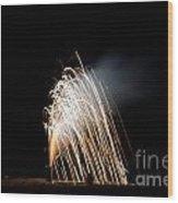 Fireworks 8 Wood Print