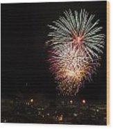 Fireworks Albenga 2013 3808 - Ph Enrico Pelos Wood Print