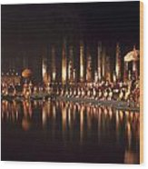 Fireworks At Festival In Thailand Wood Print