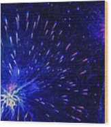 Fireworks At Night 1 Wood Print