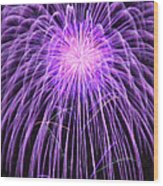 Fireworks At Night 2 Wood Print