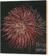 Fireworks At Night 5 Wood Print