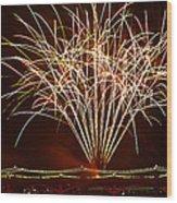 Fireworks At Tempe Town Lake  Wood Print by Saija  Lehtonen