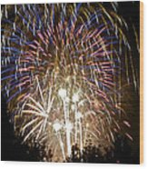 Fireworks Bursts Colors And Shapes 1 Wood Print