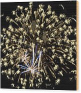 Fireworks Bursts Colors And Shapes 4 Wood Print