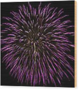 Fireworks Bursts Colors And Shapes 5 Wood Print