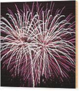 Fireworks Bursts Colors And Shapes 7 Wood Print