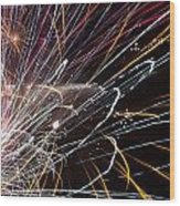 Fireworks Cropped Wood Print