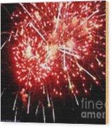 Fireworks Display At Niagara Falls Wood Print