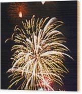 Fireworks Wood Print by Elena Elisseeva