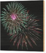 Fireworks Exploding Wood Print