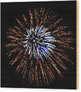 Fireworks Exposion Wood Print