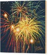 Fireworks Finale Wood Print by Doug Kreuger