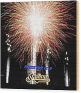 Fireworks Finale Wood Print