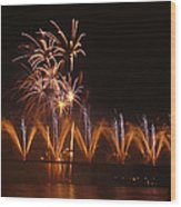 Fireworks Fountain Wood Print