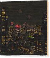 Fireworks From My Window 1 - Manhattan Wood Print
