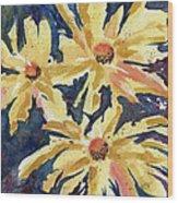 Fireworks In Flower Wood Print