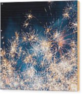 Fireworks In The Sky Wood Print by Gianfranco Weiss