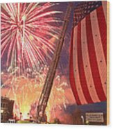 Fireworks Wood Print by Jim DeLillo