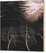 Fireworks Light Trails 11 Wood Print