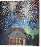 Fireworks Over The Rotunda Wood Print