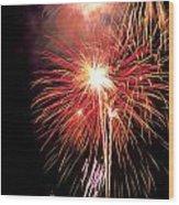 Fireworks Over Washington Dc Wood Print