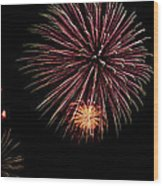 Fireworks Panorama Wood Print by Bill Cannon