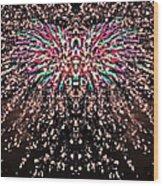 Fireworks Phoenix Wood Print