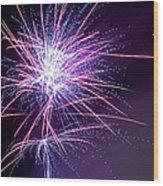 Fireworks - Purple Haze Wood Print