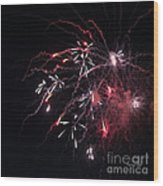 Fireworks Series Xi Wood Print by Suzanne Gaff