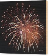Fireworks Series Xv Wood Print by Suzanne Gaff
