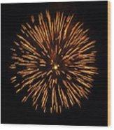 Fireworks Shell Burst Wood Print by Jay Droggitis