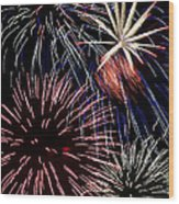 Fireworks Spectacular Wood Print