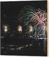 Fireworks Wood Print by Stanlerd Rodriguez
