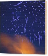 Fireworks Tree Of Life Wood Print by Kevin Read