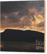 Firey Sky Wood Print
