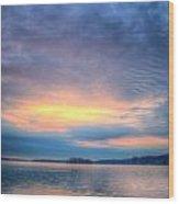 Firey Sunrise Wood Print