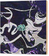 Firmament Cracked #11 Tapestry Of Pain Wood Print