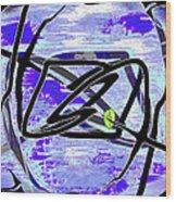 Firmament Cracked #4 - Entrapment Wood Print by Mathilde Vhargon