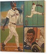 First Ballot Feat Ken Griffey Jr. Wood Print