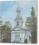 First Church Sandwich Ma Wood Print